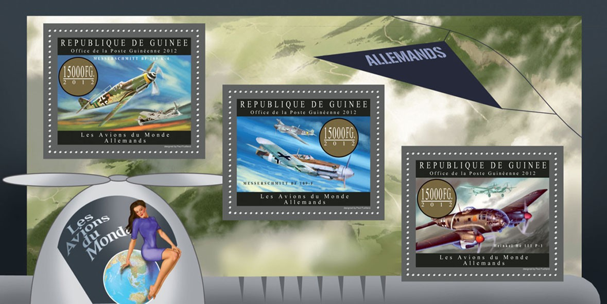 Planes of Germany  - Issue of Guinée postage stamps
