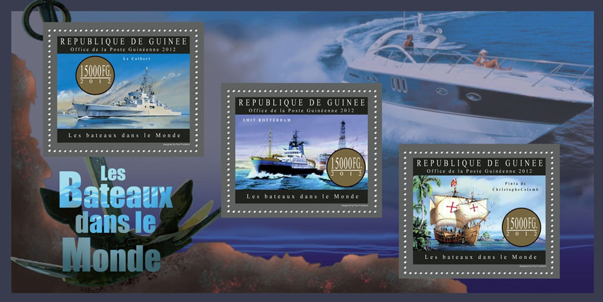 Ships of the World - Issue of Guinée postage stamps