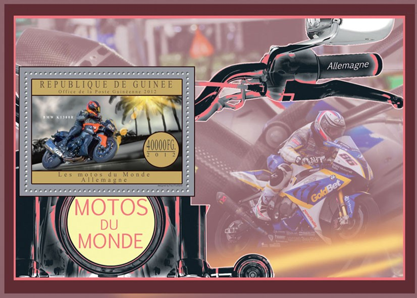 Motorcycles of Germany - Issue of Guinée postage stamps