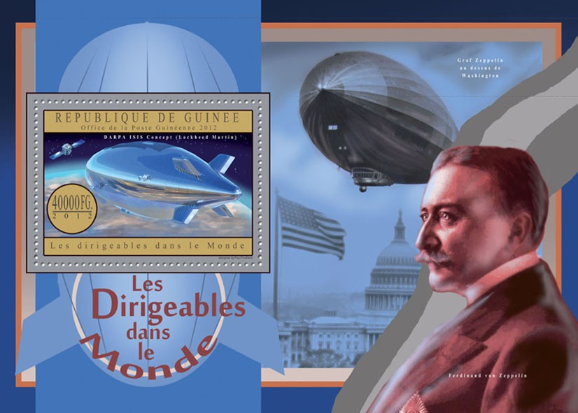 Zeppelins - Issue of Guinée postage stamps