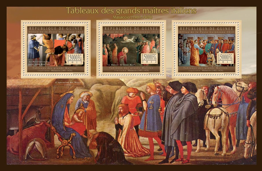Great Italian Masters Paintings VII - Issue of Guinée postage stamps