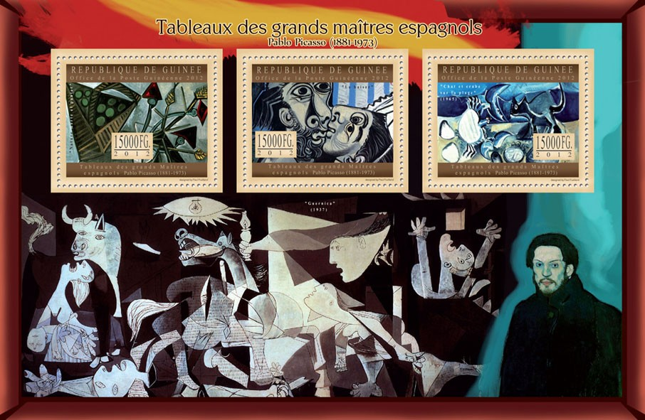 Great Spanish Masters Paintings I - Issue of Guinée postage stamps