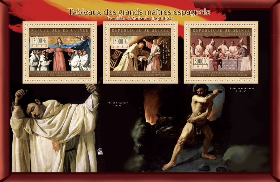 Great Spanish Masters Paintings II - Issue of Guinée postage stamps