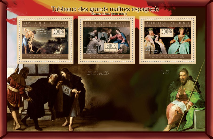 Great Spanish Masters Paintings III - Issue of Guinée postage stamps