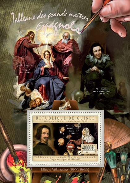 Great Spanish Masters Paintings IV - Issue of Guinée postage stamps