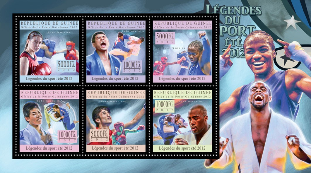 Sports legends summer 2012 I - Issue of Guinée postage stamps