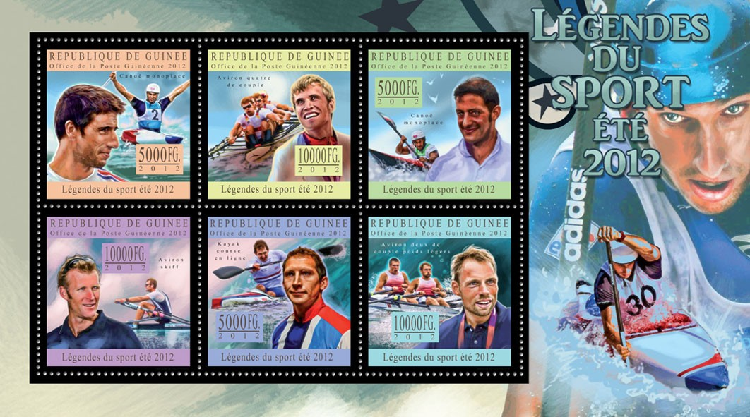 Sports legends summer 2012 II - Issue of Guinée postage stamps