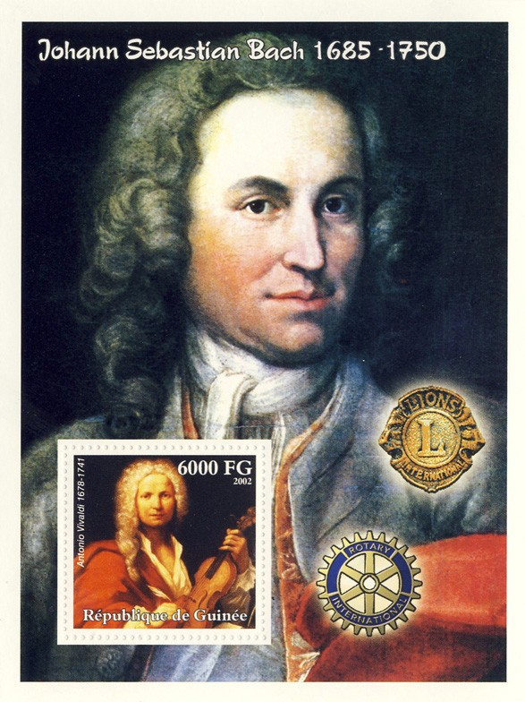 Composers s/s - Issue of Guinée postage stamps