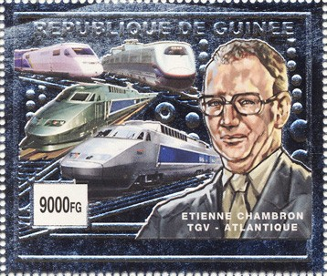 Etienne Chambron 1v (silver) - Issue of Guinée postage stamps