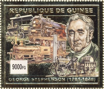 George Stphenson 1v (gold) - Issue of Guinée postage stamps