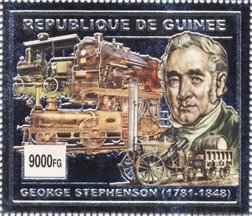 George Stphenson 1v (silver) - Issue of Guinée postage stamps