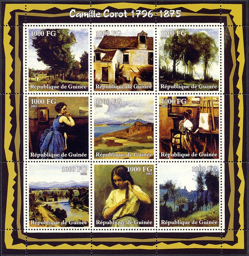 Camille Corot (1796-1875) - Issue of Guinée postage stamps