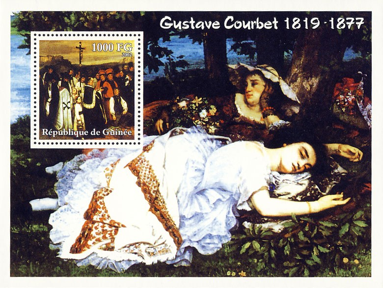 Gustave Courbet (1819-1877) - Issue of Guinée postage stamps