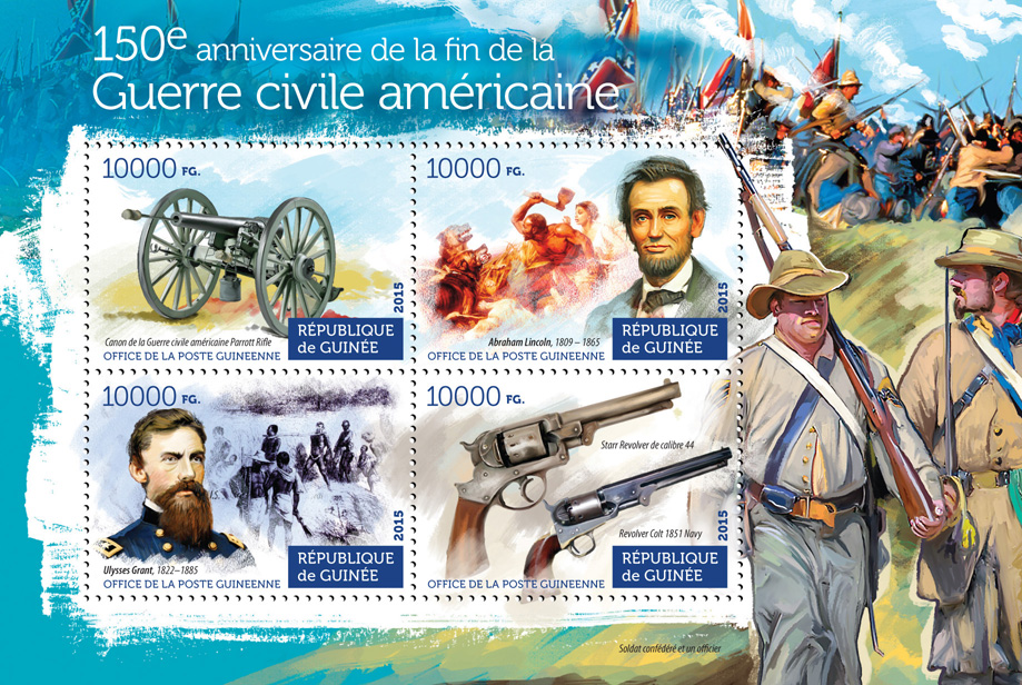 American Civil War - Issue of Guinée postage stamps