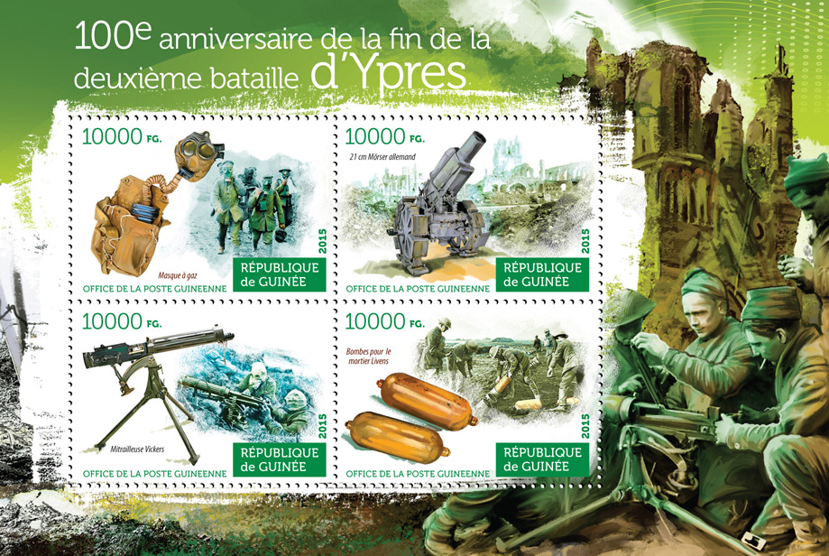 Second battle of Ypres - Issue of Guinée postage stamps