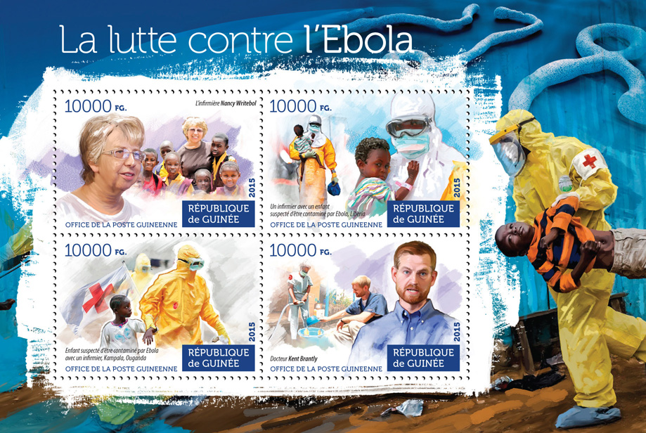 Ebola virus - Issue of Guinée postage stamps