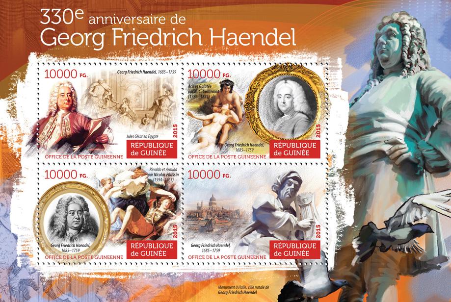 George Frederick Handel - Issue of Guinée postage stamps