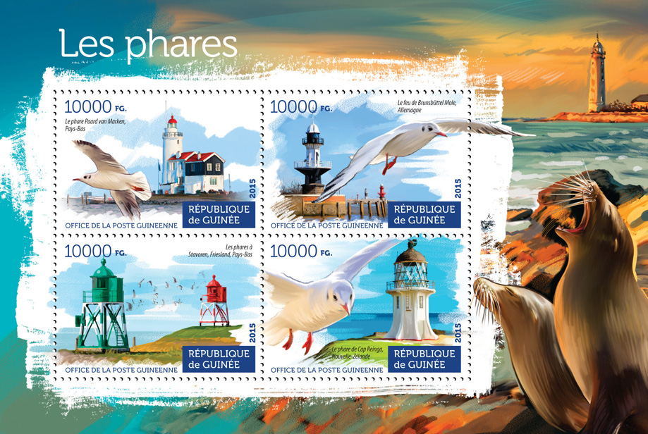 Lighthouses - Issue of Guinée postage stamps