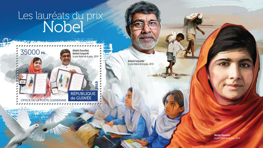 Nobel Prize winners - Issue of Guinée postage stamps