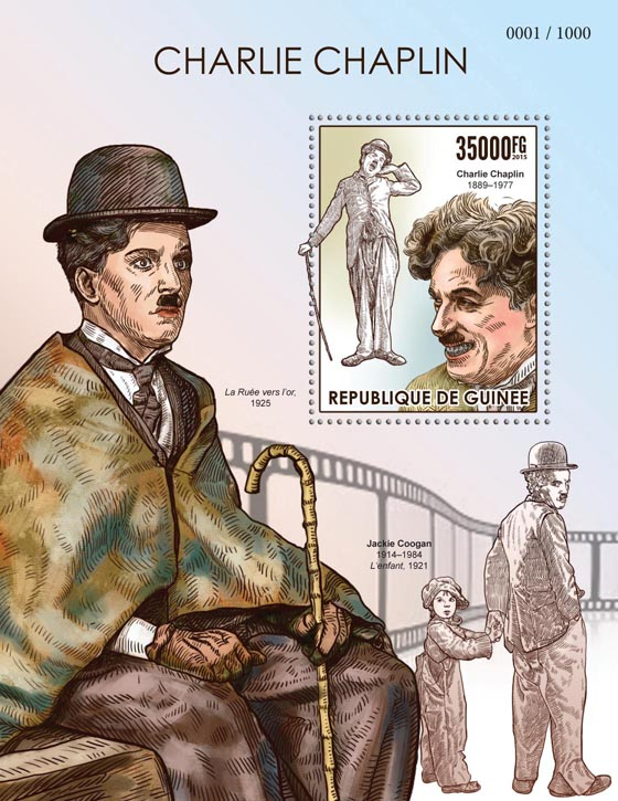 Charlie Chaplin - Issue of Guinée postage stamps