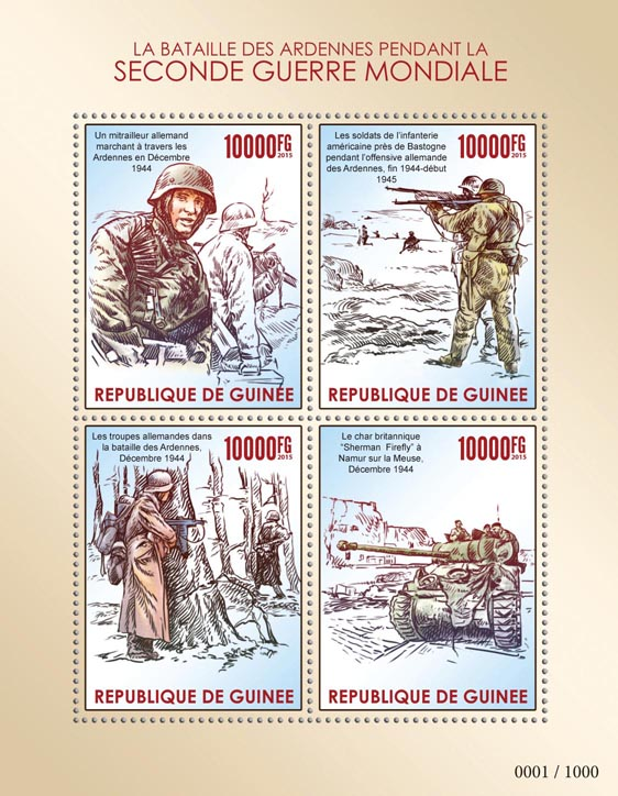 Battle of the Bulge - Issue of Guinée postage stamps