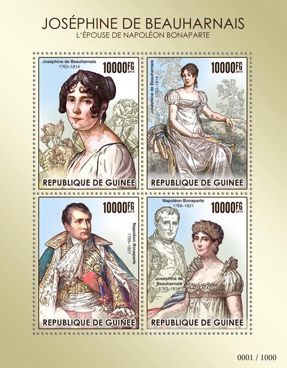 Empress Josephine de Beauharnais - Issue of Guinée postage stamps