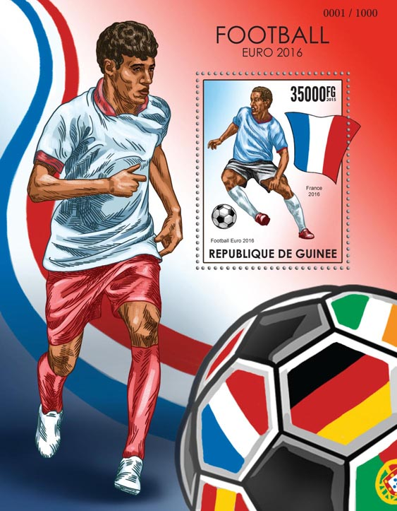 Football Euro 2016 - Issue of Guinée postage stamps