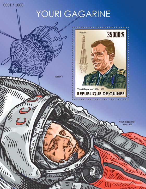 Yuri Gagarin - Issue of Guinée postage stamps