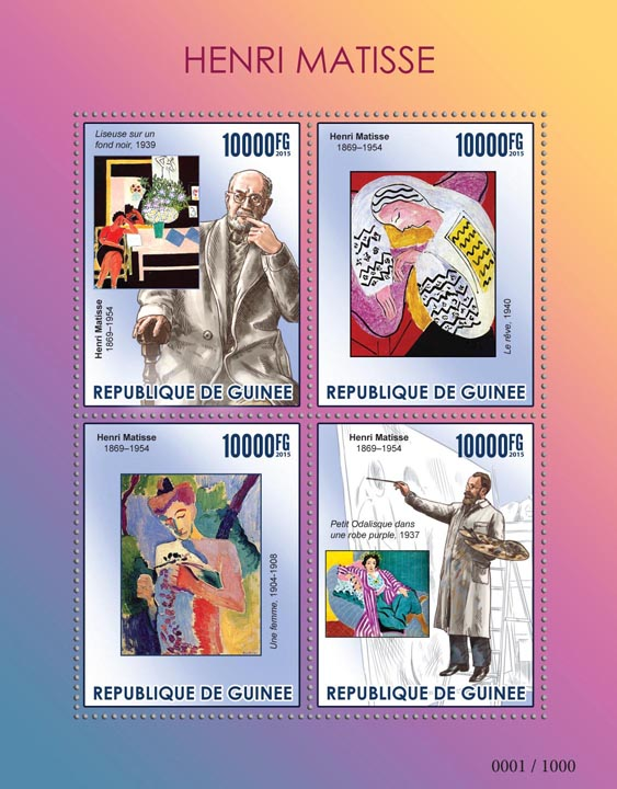 Henri Matisse - Issue of Guinée postage stamps
