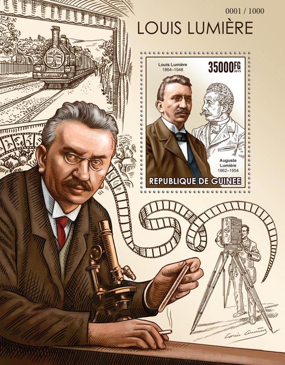 Louis Lumière - Issue of Guinée postage stamps