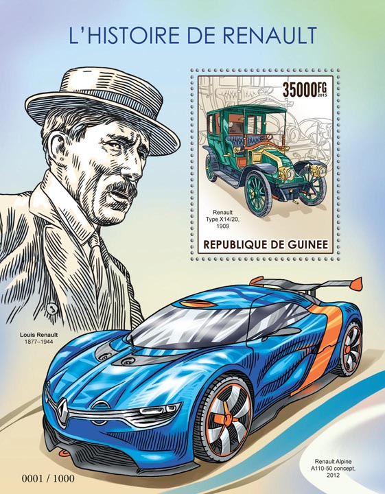 Renault - Issue of Guinée postage stamps