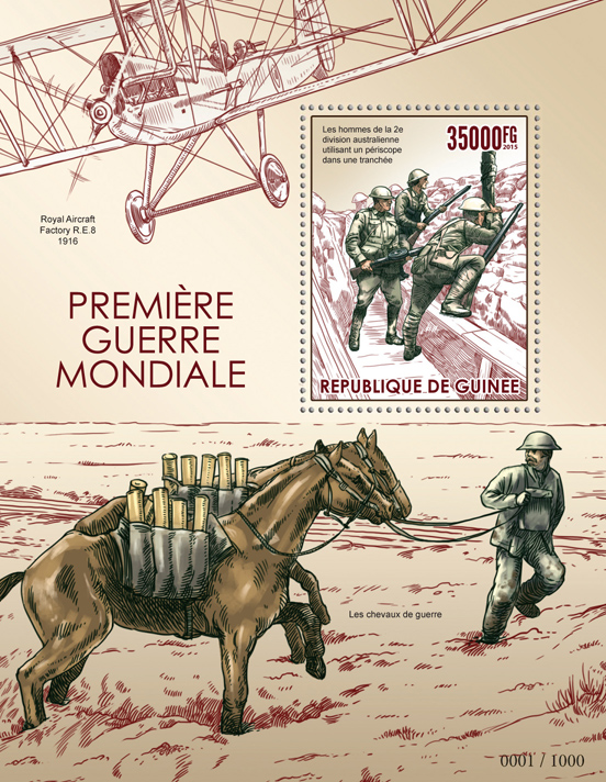 World War I - Issue of Guinée postage stamps