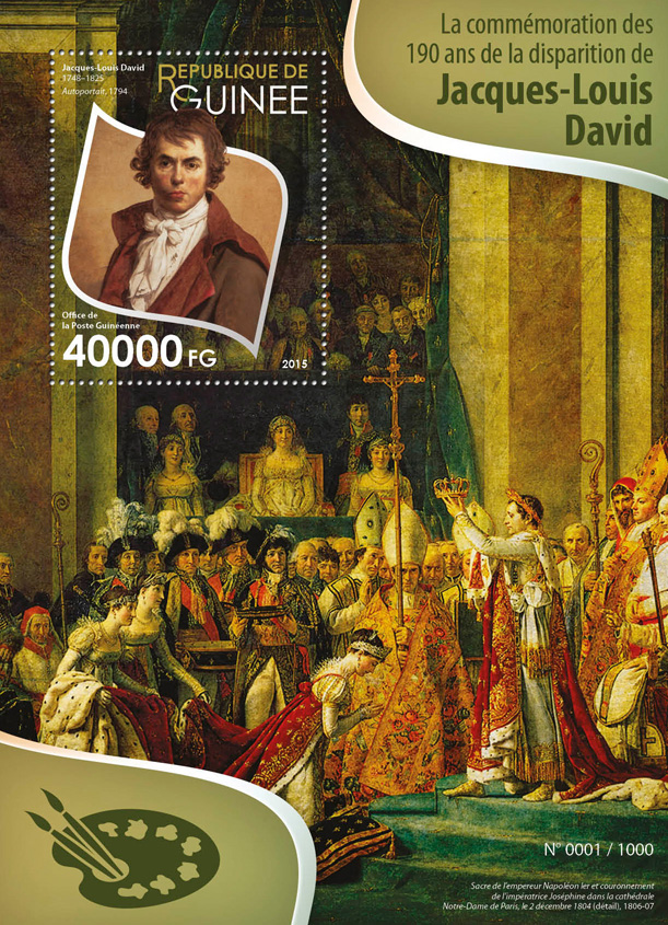 Jacques-Louis David - Issue of Guinée postage stamps