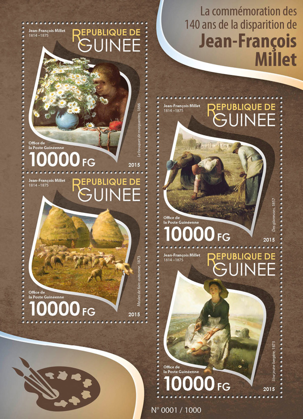 Jean-François Millet - Issue of Guinée postage stamps
