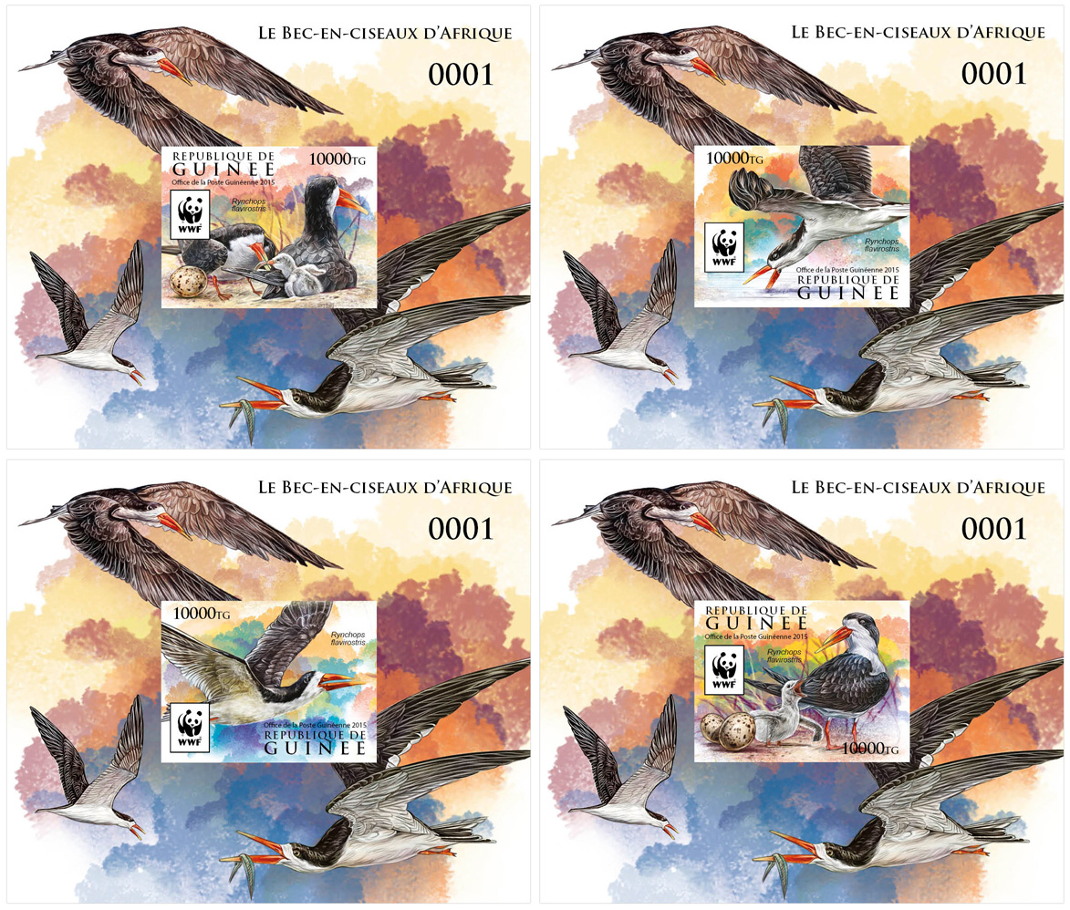WWF – Skimmer (imperf. 4 delux) - Issue of Guinée postage stamps