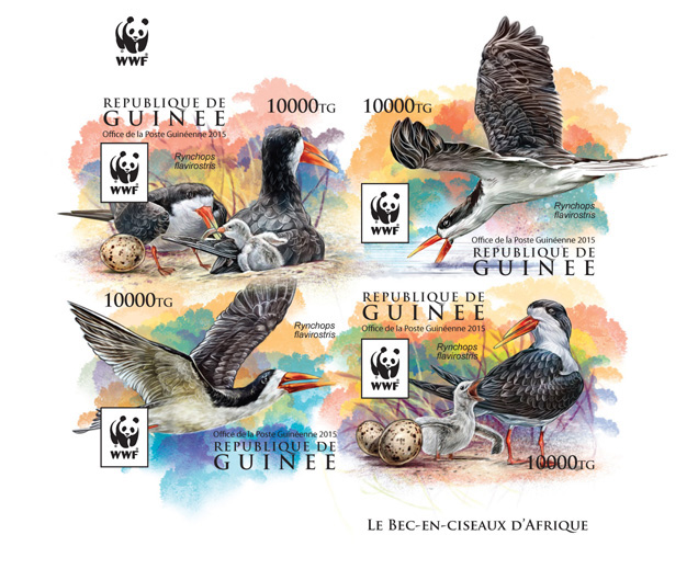 WWF – Skimmer (imperf. Set) - Issue of Guinée postage stamps