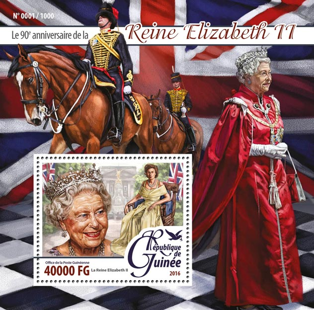 Queen Elizabeth II - Issue of Guinée postage stamps