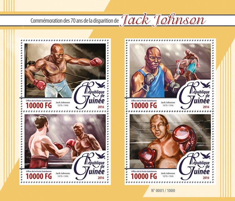 Jack Johnson - Issue of Guinée postage stamps