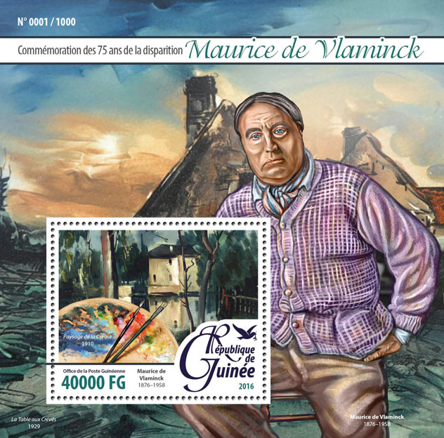 Maurice de Vlaminck - Issue of Guinée postage stamps