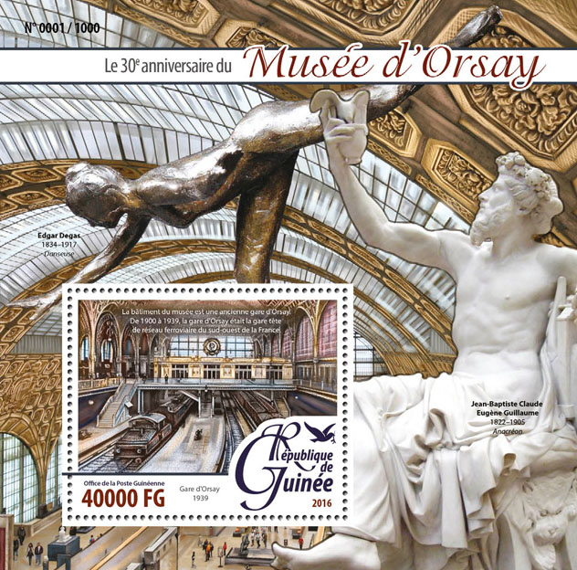 The Orsay Museum - Issue of Guinée postage stamps