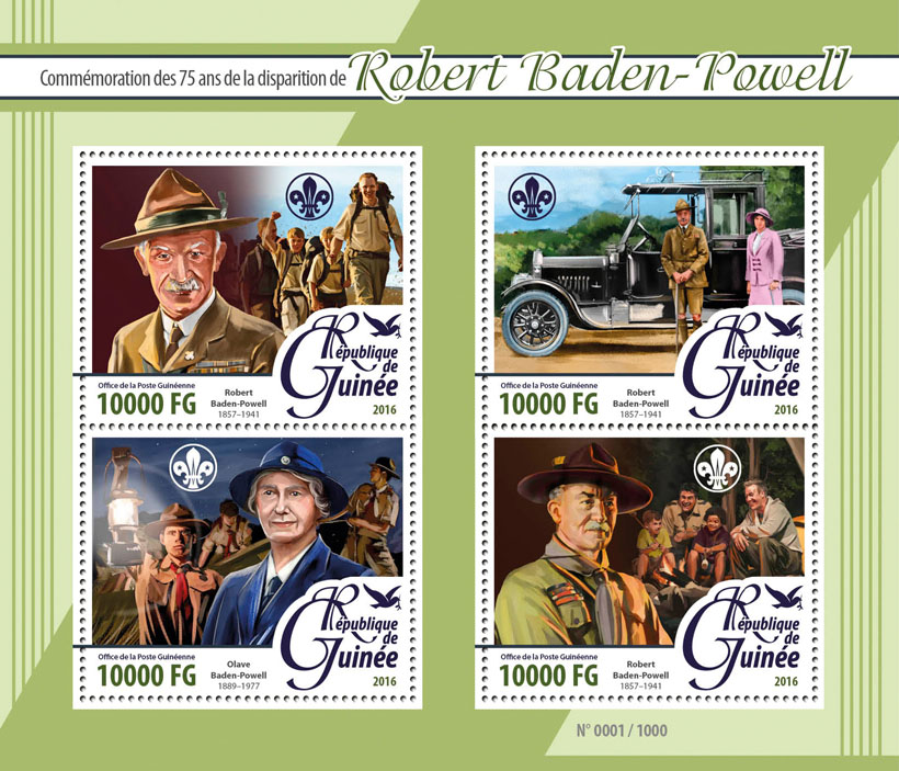 Robert Baden-Powell - Issue of Guinée postage stamps