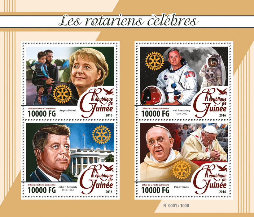 Famous Rotarians - Issue of Guinée postage stamps