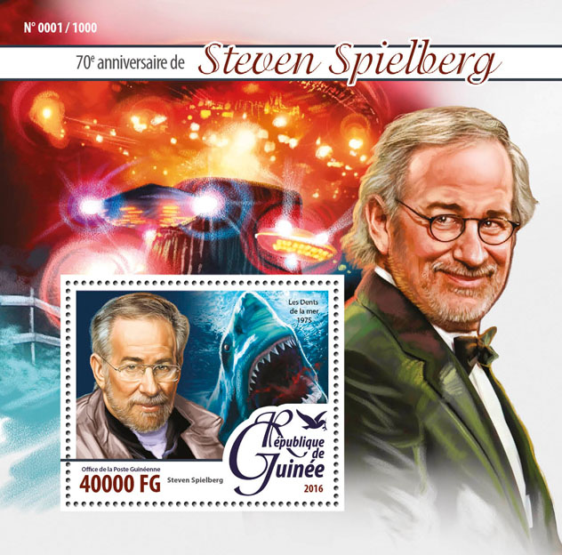 Steven Spielberg - Issue of Guinée postage stamps