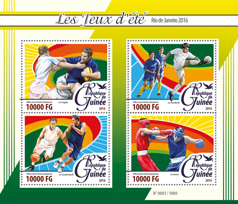 Rio 2016 - Issue of Guinée postage stamps