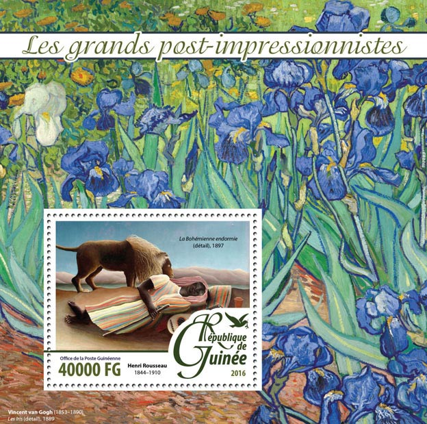 Post-impressionists - Issue of Guinée postage stamps