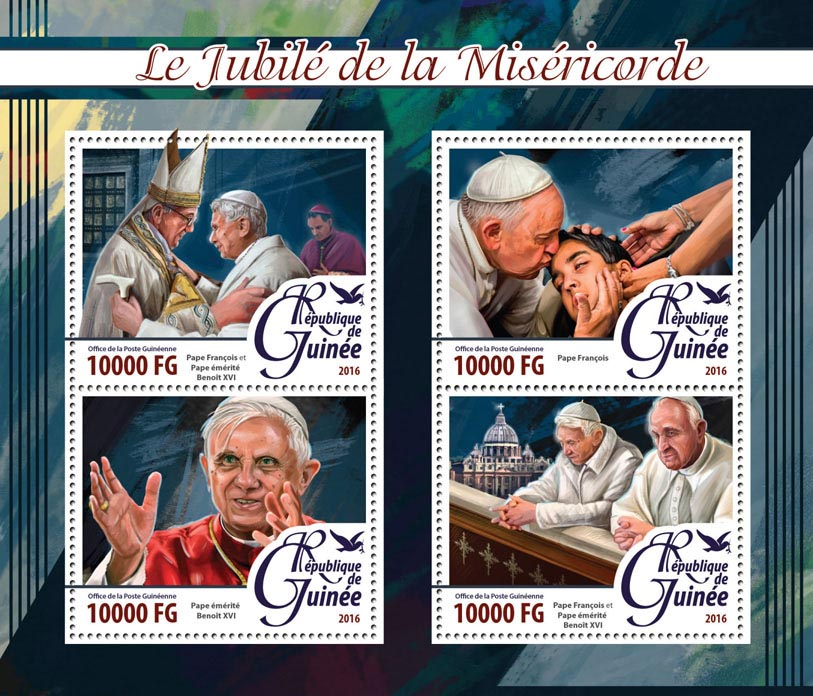 Popes - Issue of Guinée postage stamps