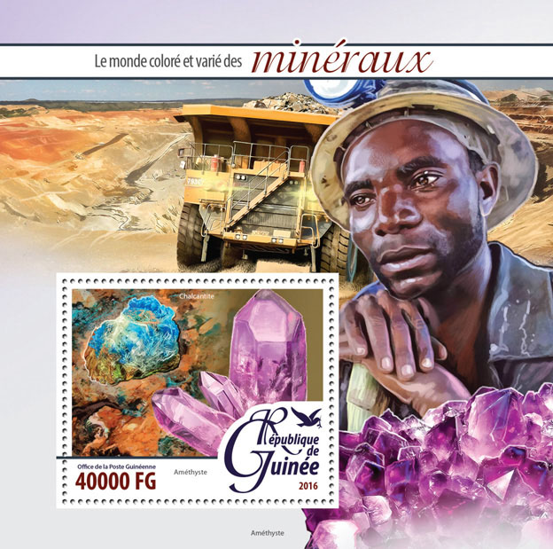 Minerals - Issue of Guinée postage stamps
