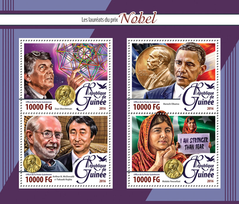 The Nobel Laureates - Issue of Guinée postage stamps