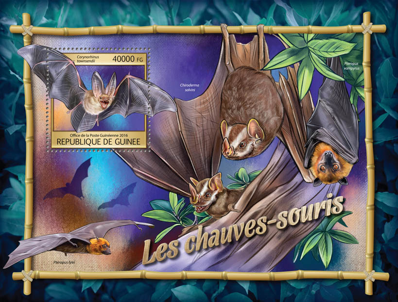 Bats - Issue of Guinée postage stamps