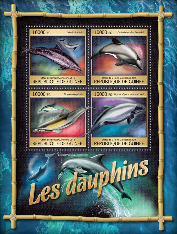 Dolphins - Issue of Guinée postage stamps